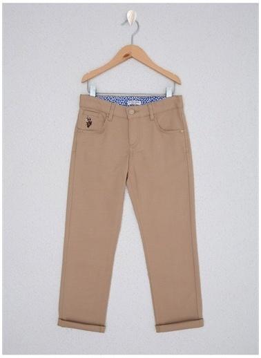U.S. Polo Assn. U.S. Polo Assn. Kum Erkek Çocuk Chıno Pantolon Sarı